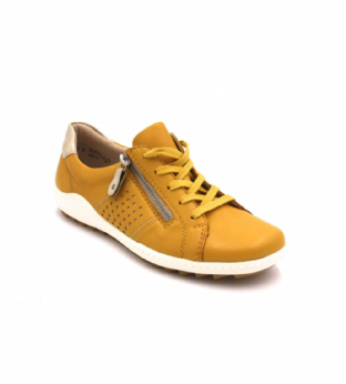 Remonte R1417-68 Ladies Yellow Combination Shoes With Zipper